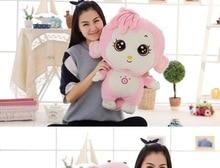 new big creative plush pink monkey toy cartoon sunshine monkey doll gift about 70cm