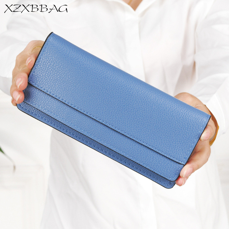 XZXBBAG Women Vintage Long Wallet 2017 New Design Female Multiple Card Holders Purse Girl Student Thin Money Bag Clip Clutch xzxbbag fashion female zipper big capacity wallet multiple card holder coin purse lady money bag woman multifunction handbag