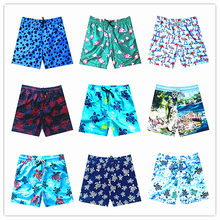 2019 Brand Vilebreq Beach Board Short Men Swimwear 100% Quick Dry Turtles Flamingo Male Swimshort Sexy Elastic Band Short M-XXXL(China)