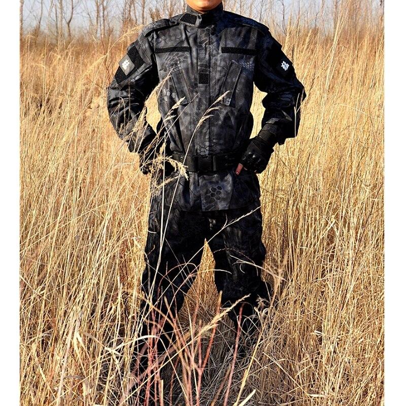 Free Shipping Tactical Kryptek Typhon Camo BDU Field Uniform Camouflage Set Shirt Pants Men's Tactical Hunting Uniform Multicam tmc mp7 holster swat tactical drop leg holster in night prowls kryptek typhon free shipping sku12050459