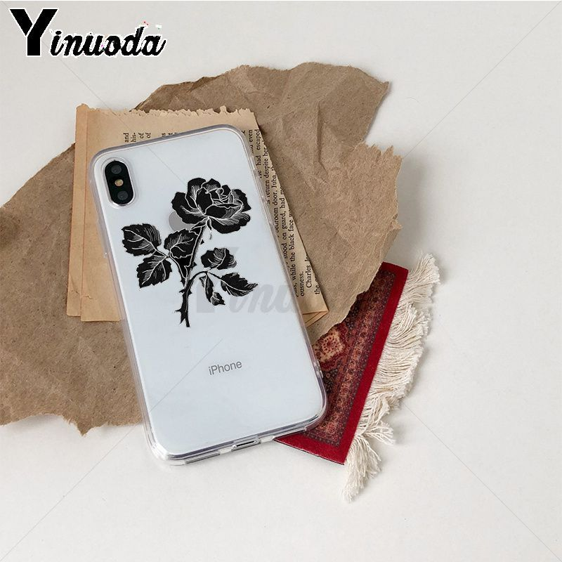 Image 3 - Yinuoda Rose flowers Colorful Phone Accessories Case for iPhone Xr XsMax 8 7 6 6S Plus Xs X 5 5S SE 5C Cases-in Half-wrapped Cases from Cellphones & Telecommunications