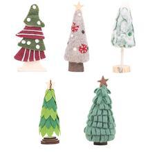 Christmas Wool Felt Xmas Tree Decoration Home Office Bar Window Decorative Ornaments 2018 New Year Photographic Props Decor