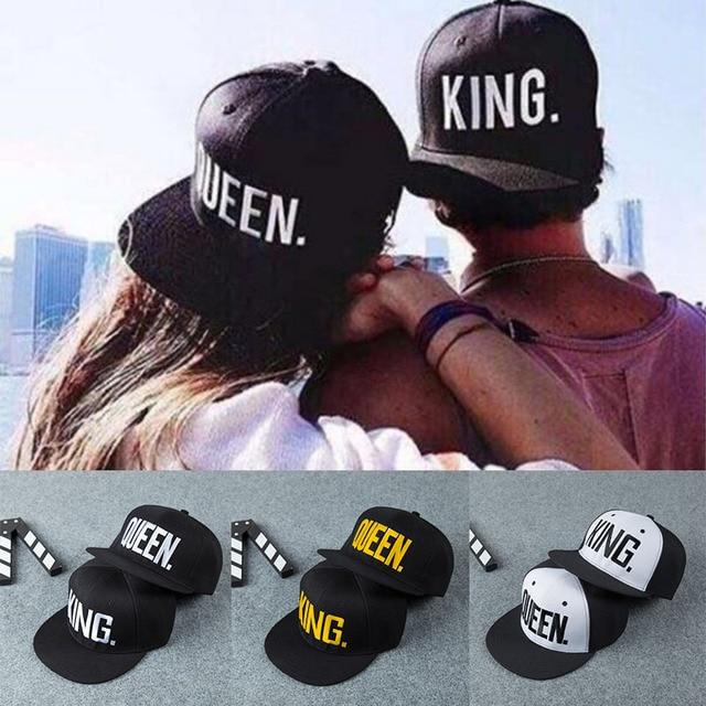 02a4db95f90f7 Gorra de béisbol con bordado de letras KING QUEEN de Venta caliente LNRRABC  para amantes