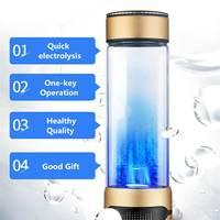 450ML for hydrogen Rich Water Bottle Rechargeable Portable Pure Water Generator Alkaline Maker Healthy Cup Antioxidan Anti Aging