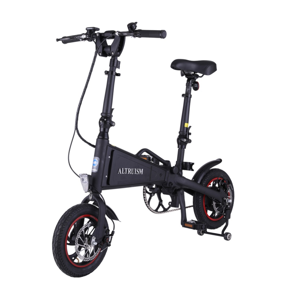 ALTRUISM A1 36V 350W Aluminum Electric Bicycle Cycling Watertight Frame Inside Li on Battery Folding ebike