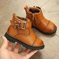 2016 Inverno New Meninas Do Bebê Confortável PU Botas de Couro Moda Martin Botas crianças Botas Curtas Retro Alta Qualidade Sapatos de Crianças