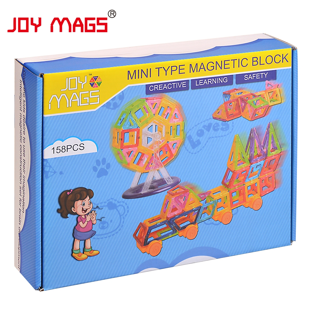 JOY MAGS Мини Магнитті Дизайнер 90/110 / 158Pcs - Дизайнерлер мен құрылыс ойыншықтары - фото 6