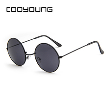 COOYOUNG Classic Round Sunglasses Men Women Small Vintage Re