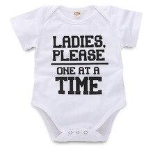 Новое поступление, забавный маленький хлопковый милый Детский боди с короткими рукавами, одежда для маленьких девочек