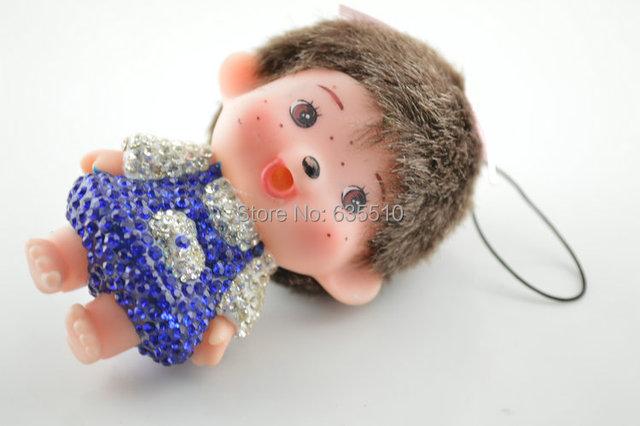 1 pc Saco Bonito Encantador Do Brinquedo Do Bebê Chians feitos por argila pavimentadas contas de cristal 9 cm de altura Presente