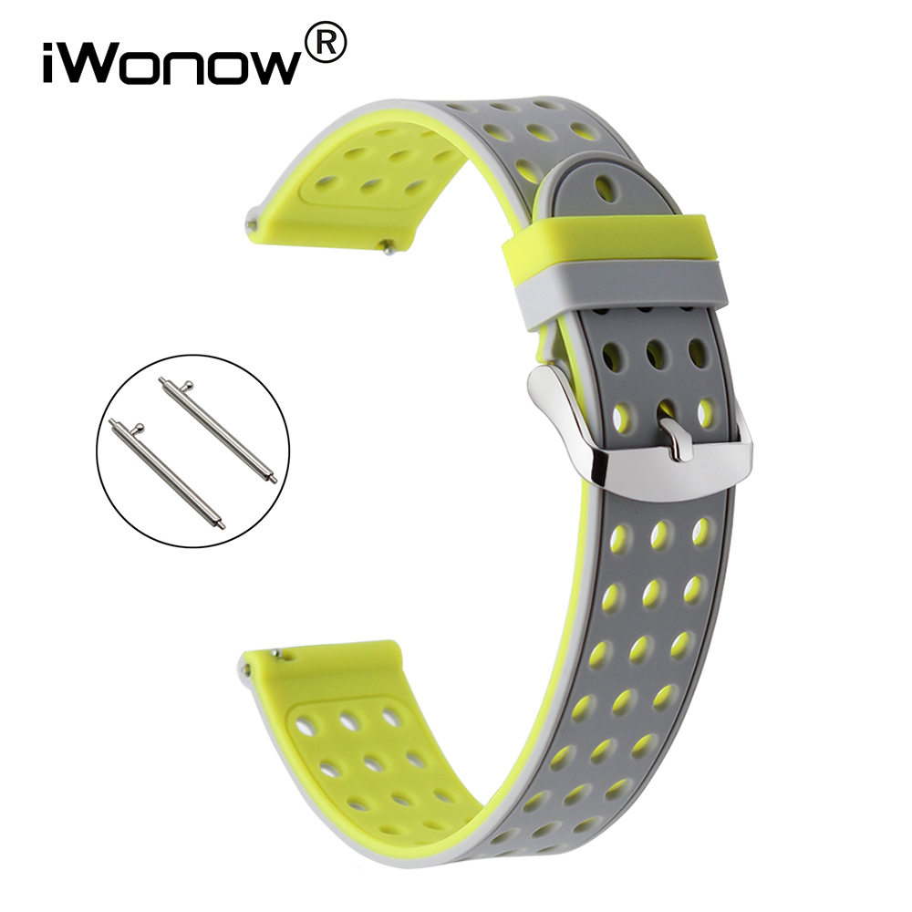 Quick Release Silicone Rubber Watchband 22mm for LG G Watch Urbane Asus ZenWatch 1 2 Men WI500Q WI501Q Watch Band Wrist Strap jansin 22mm watchband for garmin fenix 5 easy fit silicone replacement band sports silicone wristband for forerunner 935 gps