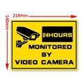 1 pc/s Security-24hr Sinais De Alerta de Segurança Do Sistema de Vigilância EM CASA-Etiquetas Da Janela Câmera Etiqueta de Advertência Sinal de Aviso de Alerta