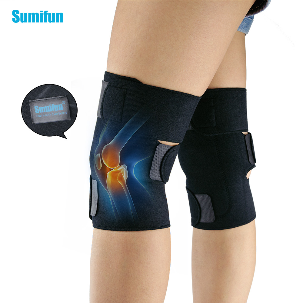 1Pair Self-Heating Knee Leggings Brace Support Magnetic Therapy Knee Pads Adjustable Knee Massager Health Care Z700