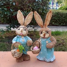 Buy easter craft gifts and get free shipping on aliexpress ailury 2pcslot high 28cm garden decoration blue lovers negle Choice Image