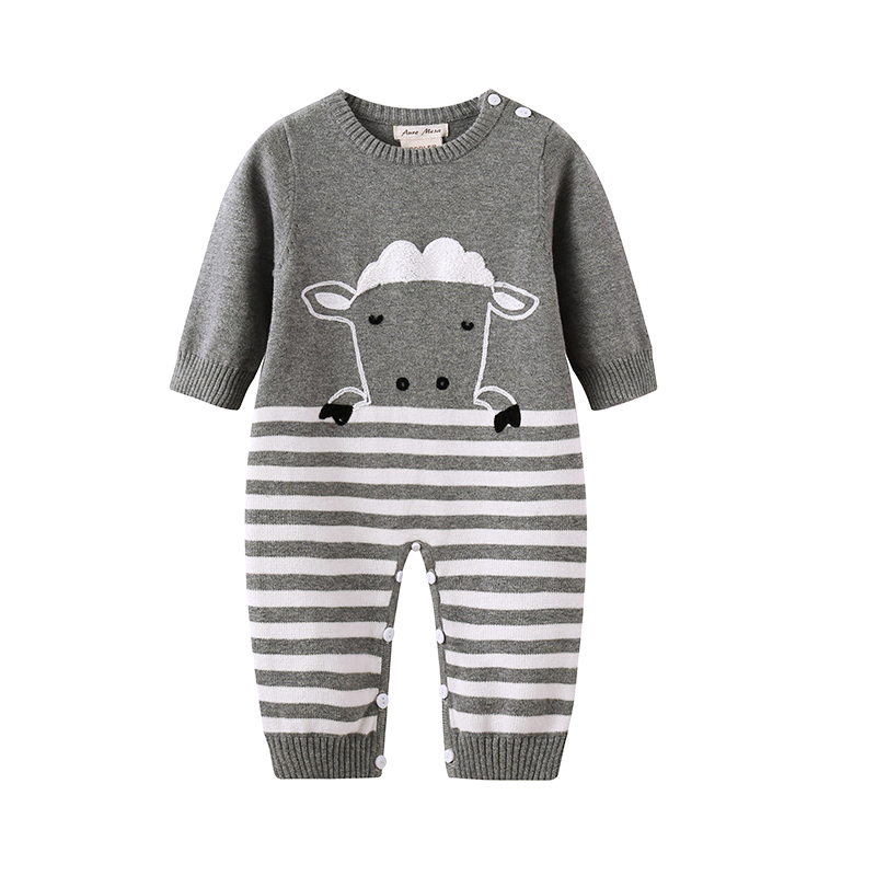 Auro Mesa baby winter clothes Cute sheep newborn bebe one pieces clothes Knitting Jumper baby knit