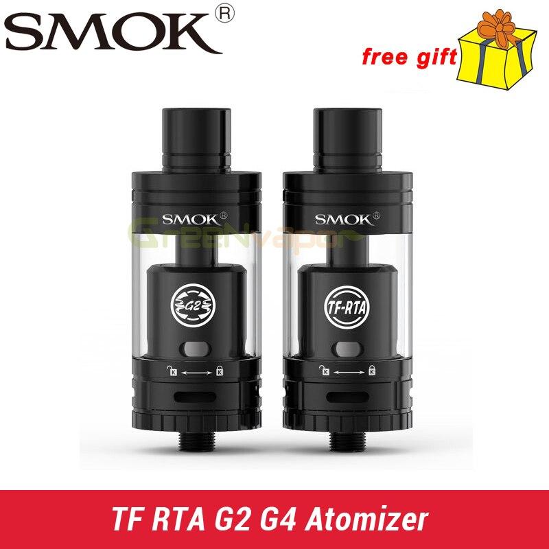 Smok TF RTA Atomizer 4.5ml with G2 or G4 Deck Two Edition Rebuildable TF RTA Atomizer обслуживаемый атомайзер smok tf rta g4 стальной
