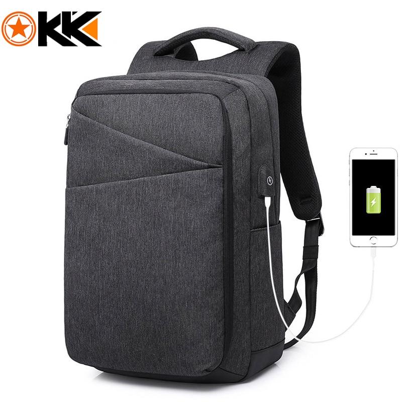 KAKA Men Backpack USB Charge 15 6 Laptop Backpacks Men s Mochilas feminina Travel Backpack Schoolbag