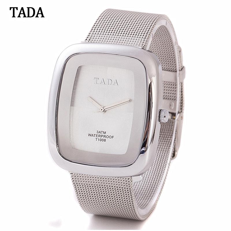 Prix pour 3AMT Étanche TADA Marque De Luxe Montres Femmes Dames Quartz Montres Bracelet Relogio Feminino Relojes Mujer T1008