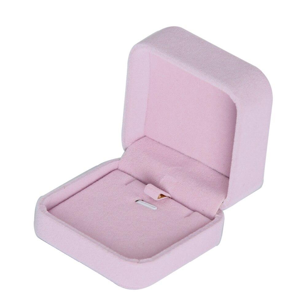 Pendant Jewelry Display Boxes Vintage Velvet Wedding Engagement Ring ...
