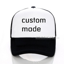 Own Design Custom Made Cap Embroidery Baseball Men Women Embrodered Logo Caps Ball Hat Free Shipping