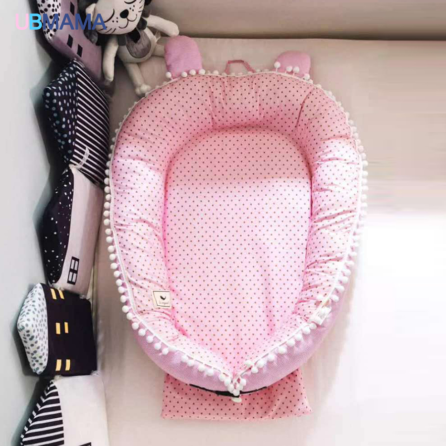 High quality travel folding portable portable washable baby bed 0-36m baby 100cm*80cm цена и фото