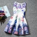 Vestidos de Meninas Crianças vestido de Verão Vestidos de Roupas infantis de menina Menina Jurken Robe fille Enfant elbise Flor de impressão sem mangas