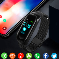 Stainless Steel Smart Watch Women Men Smartwatch For Android IOS Top Sport Clock Smart Band Fitness Tracker Smartband Waterproof