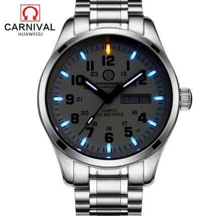 2018 New Rushed Carnival er ekte Quartz Watch Menn Multifunksjon Dual - Herreklokker