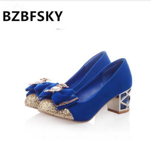 BZBFSKY2019 ladies heels shoes women pink wedding shoes butterfly bridal shoes woman rhinestone thick heel shoes for women