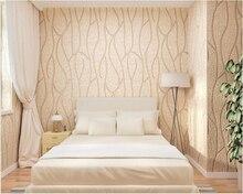 цена на beibehang Three-dimensional striped modern minimalist bedroom nonwoven living room TV background papel de parede 3d wallpaper