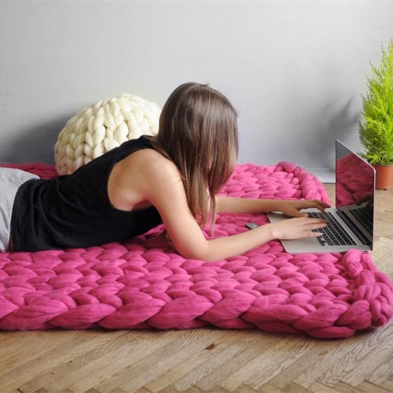 DIY thick Yarn Super Thick Merino Wool Chunky Yarn Wool Roving Yarn for Spinning Hand Knitting blanket arm knitting NEW bracelet