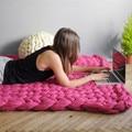 DIY thick Yarn Super Thick Merino Wool Chunky Yarn Wool Roving Yarn for Spinning Hand Knitting blanket arm knitting NEW