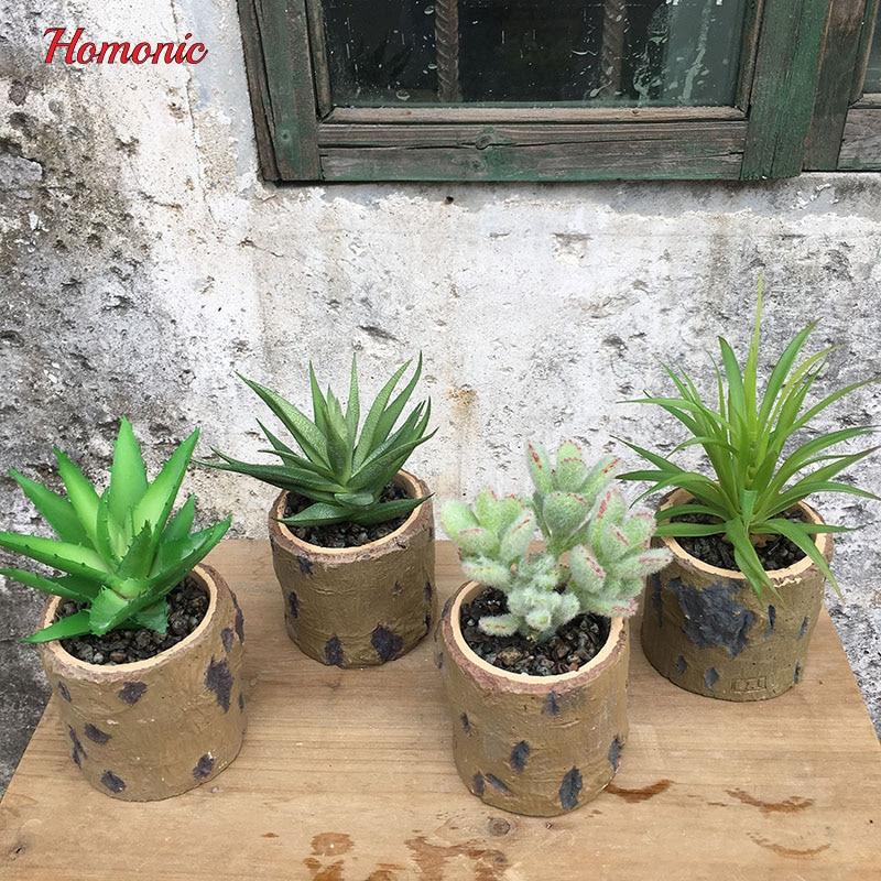 Artificial landscape artificial plants set in decorative pots quality Succulent DIY potted flower wedding table centerpieces
