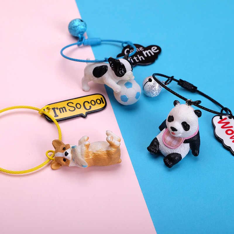 Hoạt Hình 3D Dễ Thương Cho Thú Cưng Chó Bulldog Xe Móc Khóa Con Vật Đáng Yêu Pug Dây Thép Móc Khóa Túi Charm Thiền Trượng Đồ Chơi Dành Cho Nam người Phụ Nữ Trang Sức