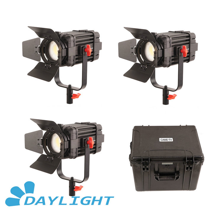 3 Pcs CAME TV Boltzen 60w Fresnel Fanless Focusable LED Daylight Kit B60 3KIT-in Photo Studio Accessories from Consumer Electronics