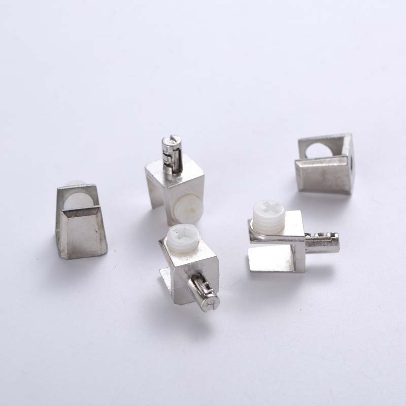 10 PCS Zinc Alloy Square Glass Bracket Support Expansion Bolts Clip Holder Glass Shelf Screw  Hardware Accessories
