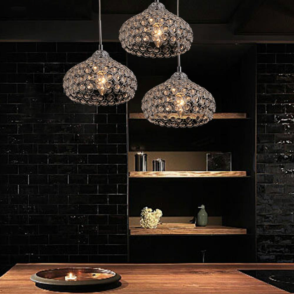 Led Pendant Lamp Iron Crystal 18cm Simple Modern Restaurant Pendant Lights For Dining Room Modern Pendentes E LustresLed Pendant Lamp Iron Crystal 18cm Simple Modern Restaurant Pendant Lights For Dining Room Modern Pendentes E Lustres