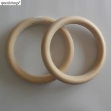"""2 шт./пара деревянное кольцо 1,"""" портативное Кроссфит гимнастические кольца для тренажерного зала силовое домашнее фитнес-оборудование для тренировок"""