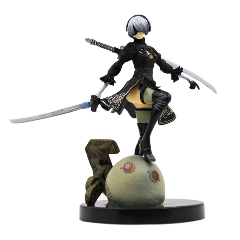 Game NieR Automata YoRHa No. 2 Type B 2B Cartoon Toy Action Figure Model Toys Doll Gift