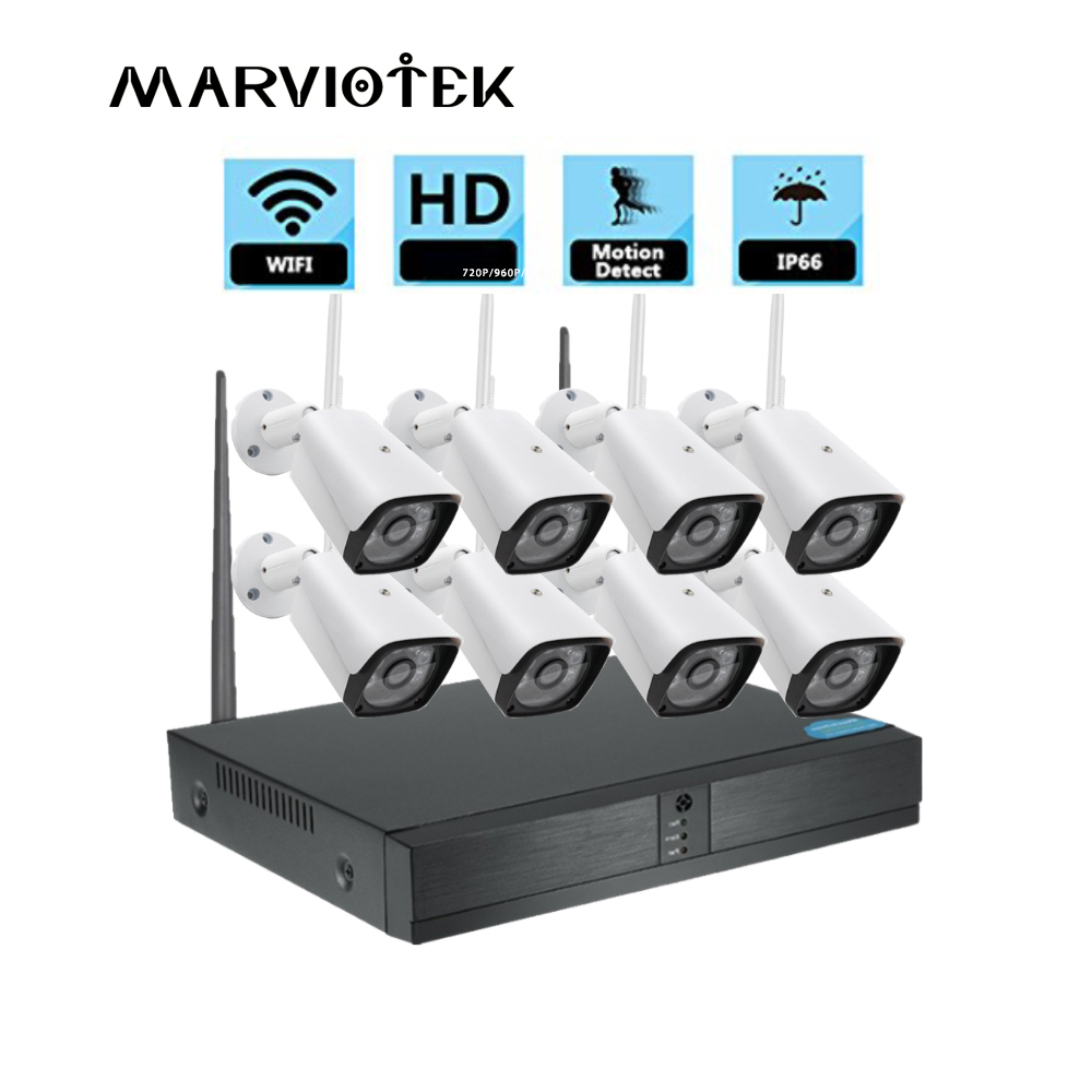 CCTV camera system Video Recorder 8CH nvr kit 4 cameras Waterproof Night Vision wireless security Camera system Surveillance Kit