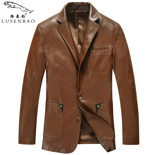 High quality Brand leather jacket men casual PU leather Blazer Single breasted fashion motorcycle jacket Homme jaqueta de couro