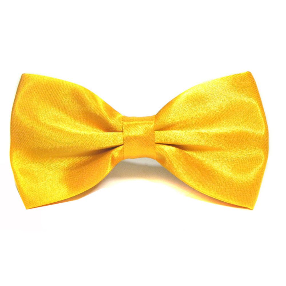Winfox Fashion Bowties Men Groom Cool Necktie Black Yellow Bow Tie Male