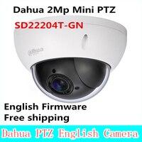Лидер продаж Dahua 2Mp Full HD Сеть мини PTZ Скорость купол 4x оптический зум Открытый Камера SD22204T GN английский прошивки Бесплатная доставка