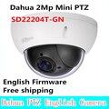 Venda quente Dahua 2Mp rede Full HD Mini Speed Dome PTZ zoom óptico de 4x câmera ao ar livre SD22204T-GN Firmware inglês frete grátis