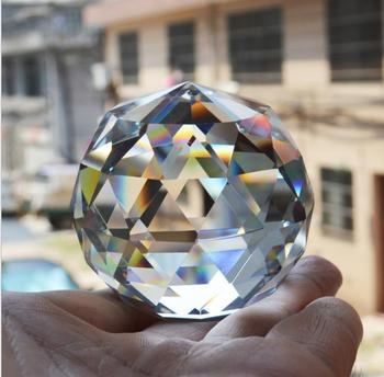 6CM Quartz Crystal Sphere Glass Faceted Ball Natural Stones Minerals Feng Shui Lucky Crystals Balls Home Decor kristallen bol