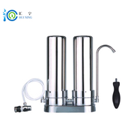 High Quality 2 Stage Table Stainless Steel Water Filter  Purifier for Home Kitchen faucet|filter water purifier|water purifier|water filter -