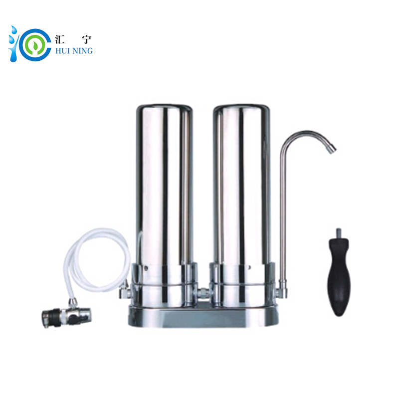 High Quality 2 Stage Table Stainless Steel Water Filter Water Purifier for Home Kitchen faucet