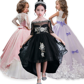 e51ce184f548d86 Элегантное платье принцессы для девочек; коллекция 2019 года; Летнее  Детское вечернее платье; костюм для девочек; Детские платья для девочек; .