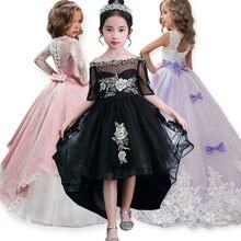 a5ff7853847a1 Zarif Kız Prenses Elbise 2019 Yaz Çocuk Akşam Parti Elbise kadın kostümü  Çocuklar Kızlar Için Elbiseler