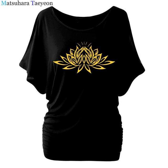 Beautiful Lotus Women Cotton T Shirts Fashion  Print Summer T Shirt All Match O Neck Short Sleeve Casual T Shirts Base Tees